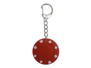 Jeton Key Chain Key Ring Miniblings Necklace Key Ring Poker Casino Red – Bild 1