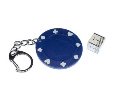 Jeton Key NecklaceKey Ring Miniblings Necklace Key Ring Poker Casino Blue – Bild 2