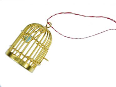 3 Pieces Christmas Tree Decorations Ornaments Ornament Xmas Gold Birdcage Birds Cages – Bild 2