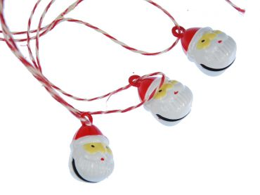 3 Pieces Christmas Tree Ornament Christmas Tree Decorations Santa Claus Bell Head – Bild 1