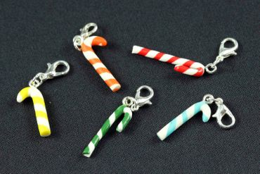 Candy Cane Charm Miniblings Candy Lollipops Christmas Cawaii White Red Green – Bild 1