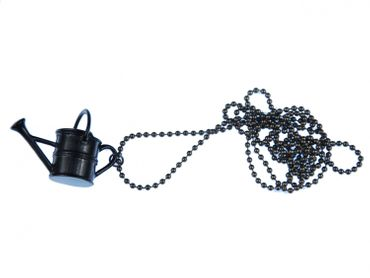 Gießkanne Kette Halskette Miniblings 80cm Blumen Gärtner Garten Kanne schwarz – Bild 2