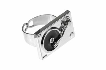 Turntable Ring Turntable Miniblings DJ Musician – Bild 1