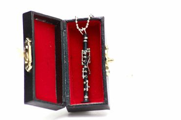 Clarinet Necklace Miniblings 80cm Musician Clarinetist With Box – Bild 3