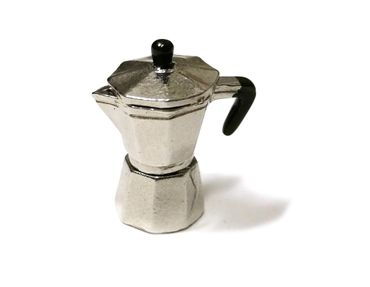Dollhouse Accessories Percolater Handmade Coffee Pot Dollhouse Kitchen Espresso Italia – Bild 1