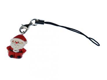 Weihnachtsmann Handy Anhänger Miniblings Weihnachten Nikolaus Santa Claus Fimo – Bild 1