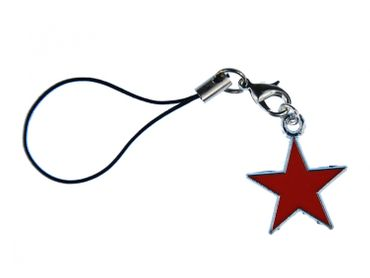 Red Star Mobile Phone Charm Pendant Miniblings Star Star Christmas Enamelled Red – Bild 1