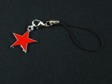 Red Star Mobile Phone Charm Pendant Miniblings Star Star Christmas Enamelled Red – Bild 2