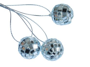 3 Pieces Christmas Tree Decorations Ornaments Ornament Xmas Mirror Disco Ball – Bild 1
