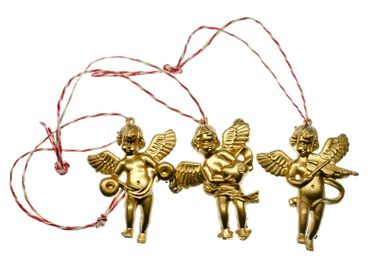3 Pieces Christmas Tree Decorations Ornaments Ornament Xmas Cherubs Angel Golden Angels – Bild 3