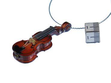 3 Pieces Christmas Tree Decorations Ornaments Ornament Xmas Fiddle Violin Wood Violins – Bild 3