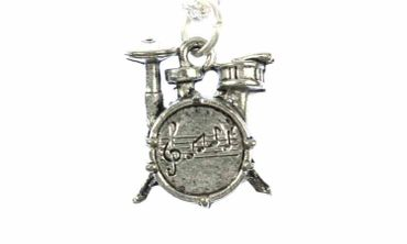Drums Necklace Miniblings 45cm Music Musician Drummer Band Silver Plated – Bild 3