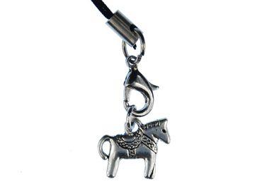 Dalapferd Handyanhänger Miniblings Pferd Handyschmuck Dala Pferdchen silber – Bild 2