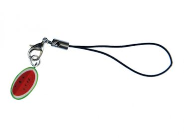 Melon Mobile Phone Charm Miniblings Watermelon Mobile Phone Jewellery Eighth Melon Red Green – Bild 1