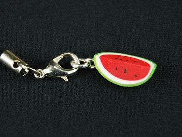 Melon Mobile Phone Charm Miniblings Watermelon Mobile Phone Jewellery Eighth Melon Red Green – Bild 3