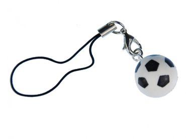 Soccer Ball Mobile Phone Charm Miniblings WM Soccer Ball 3D White EM – Bild 1