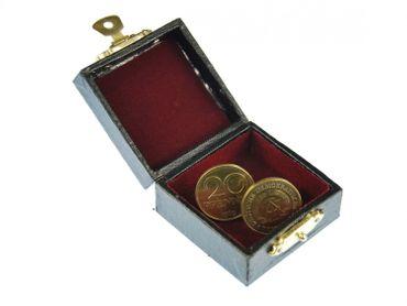 20 Pfennig GDR Cufflinks Miniblings Coins Cuffs 20 Pfennig Gold – Bild 3