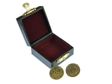 20 Pfennig DDR Manschettenknöpfe Miniblings Münzen Manschetten 20 Pfennig gold – Bild 4