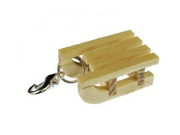 Sled Charm For Bracelet  Wristlet Miniblings Winter Mini Slides Wood – Bild 1