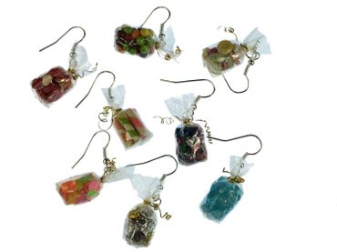 Candy Bag Earrings Miniblings Candy Colorful Bag Of Candy Mix – Bild 1