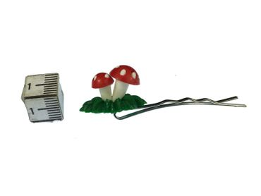 Mushrooms Set Of 3 Hair Clip Hair Pin Miniblings Fly Agaric Toadstoole 3D Red Green – Bild 7