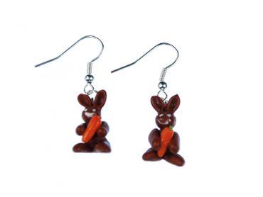 Hase und Zylinder Ohrringe Kaninchen aus Hut Miniblings Zauberer Magie Osterhase