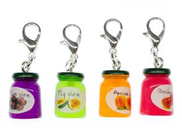 Marmeladenglas Charm Anhänger Bettelanhänger Miniblings Marmelade bunt Kompott – Bild 1