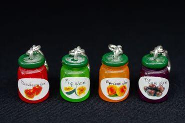 Marmeladenglas Charm Anhänger Bettelanhänger Miniblings Marmelade bunt Kompott – Bild 3