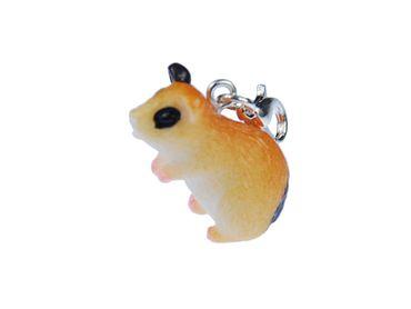 Hamster Charm For Bracelet  Wristlet Miniblings Pet Hamsters Spotted – Bild 1
