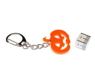 Pumpkin Key Ring Miniblings Halloween Pumpkin Orange Acrylic – Bild 2