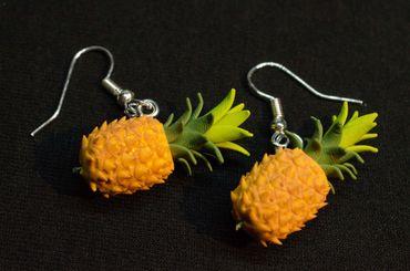 Pineapple Earrings Miniblings Pineapple Earrings Fruit Fruits 3D – Bild 3