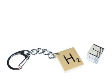 Scrabble Key Chain Key Ring Miniblings Pendant Initial Request Letter Customized Initial ABC – Bild 2