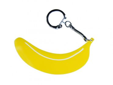 Banana Acrylic Key Chain Key Ring Miniblings Key Ring Banana Acrylic LC Yellow – Bild 1
