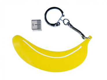 Banana Acrylic Key Chain Key Ring Miniblings Key Ring Banana Acrylic LC Yellow – Bild 2