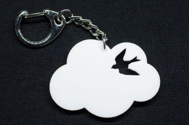 Cloud Acrylic Key Ring Miniblings Key Ring Cloud Swallow Bird – Bild 2