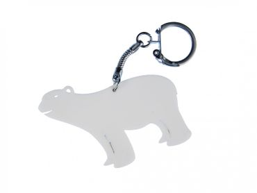 Polar Bear Acrylic Key NecklaceKey Ring Miniblings Key Ring Polar Bear Acrylic LC White – Bild 2