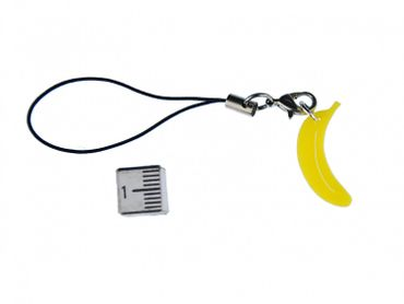 Banana Acrylic Mobile Phone Charm Pendant Miniblings Mobile Phone Jewellery Banana Monkey Acrylic Yellow – Bild 2