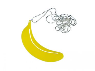 Banana Acrylic Necklace Miniblings 80cm Monkey Large Acrylic Yellow – Bild 1