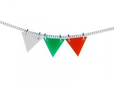 Dreiecke bunt Acrylglas Kette 45cm Halskette Miniblings Dreieck bunt Geometrie – Bild 1
