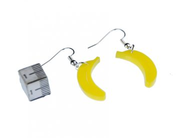 Banana Acrylic Lasered Earrings Miniblings Banana Acrylic LC Yellow – Bild 2