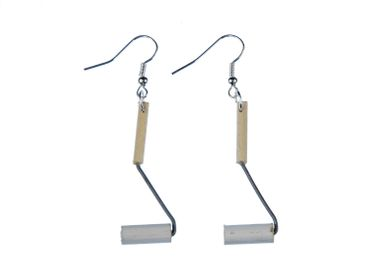 Paint Roller Earrings Miniblings Paint Roller Paintbrush Wood – Bild 1