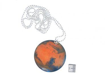 Planeten Kette Mars Halskette Miniblings 80cm Sonnensystem Planet Mars rot blau – Bild 2