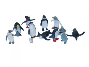 Set Of 10 Penguin Animal Figure Figures Figurines Miniblings Antarctica Arctic – Bild 3