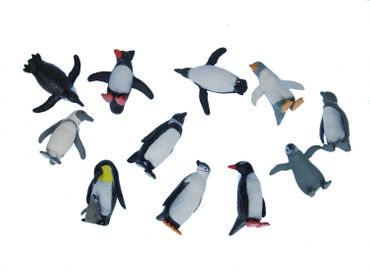 Set Of 10 Penguin Animal Figure Figures Figurines Miniblings Antarctica Arctic – Bild 1