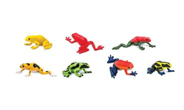 Set Of 6 Frog Animal Figure Figures Figurines Miniblings Rubber Amphibians – Bild 2