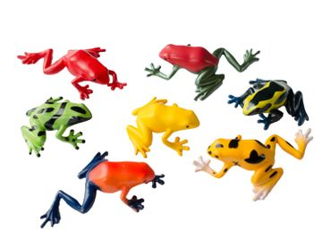 Set Of 6 Frog Animal Figure Figures Figurines Miniblings Rubber Amphibians – Bild 1