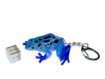 Frog Key NecklaceKey Ring Miniblings Necklace Key Ring Poison Frog Blue – Bild 2