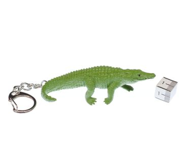Alligator Schlüsselanhänger Miniblings Anhänger Schlüsselring Krokodil Zoo Gummi – Bild 2