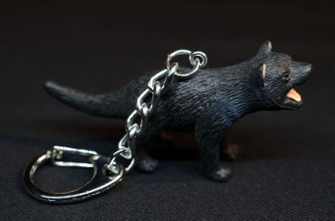 Tasmanian Devil Key NecklaceKey Ring Miniblings Key Ring Rubber – Bild 3