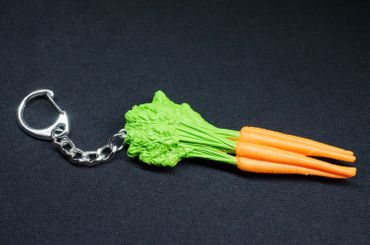 Carrots Key Ring Miniblings Key Chain Ring Garden Vegetables Rubber – Bild 3